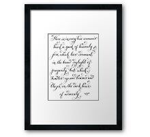 Heavenly fire inspirational quote Framed Print