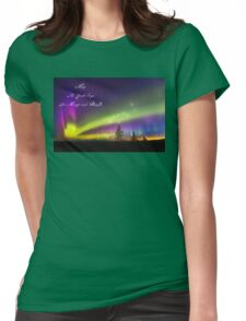 Be Merry and Bright – Denali Aurora Dawn Womens Fitted T-Shirt