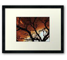 red skye Framed Print