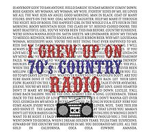 I Grew Up On 70's Country Radio (white tote bag) by For The Country Record