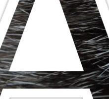 Alpha-Black Textured Sticker