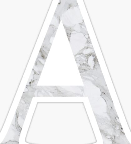 Alpha-Marble Sticker