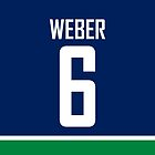 Vancouver Canucks Yannick Weber Jersey Back Phone Case by Russ Jericho