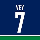 Vancouver Canucks Linden Vey Jersey Back Phone Case by Russ Jericho