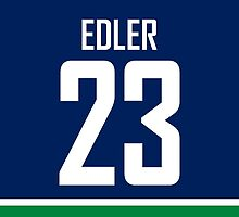 Vancouver Canucks Alex Edler Jersey Back Phone Case by Russ Jericho