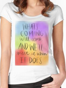 Hagrid Quote Women's Fitted Scoop T-Shirt