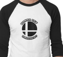 Wanna Get Smashed? (Smash Bros.)  Men's Baseball ¾ T-Shirt
