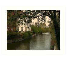 Avon river, Salisbury Art Print