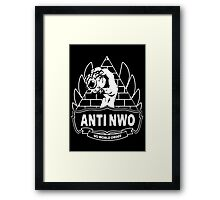 Anti NWO - No World Order Framed Print