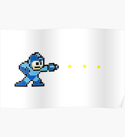 Megaman 8 Bit Poster