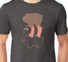 We Bare Bears Stacked Simple Unisex T-Shirt