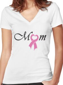 Mom - Mothers day Women's Fitted V-Neck T-Shirt