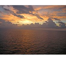 Sunrise at Sea  Photographic Print