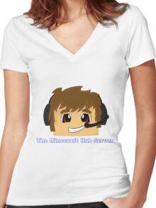 The Minecraft Hub Server Shirt Women's Fitted V-Neck T-Shirt