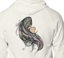 Tapa Hair - Rainbow Zipped Hoodie