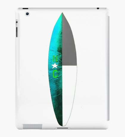 NC Surfboard iPad Case/Skin