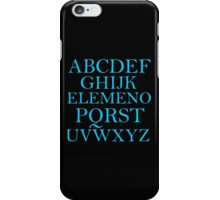 ALPHABET SONG iPhone Case/Skin