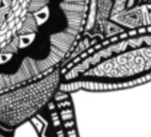 Ellie the Elephant Zentrangle Design Sticker