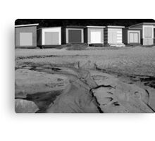 Bathing Boxes, Mornington Beach Canvas Print