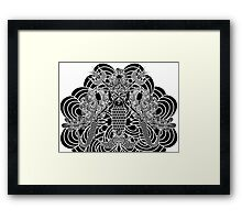 Poseidon and his twin daughters Framed Print