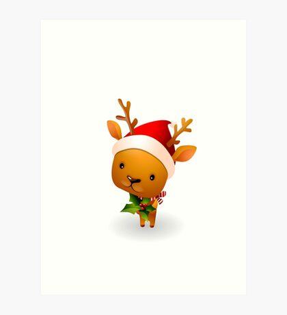 Merry Chrismas animal Ugly Sweater Xmas Art Print