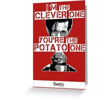 Doctor Who clever potato (poster) Greeting Card