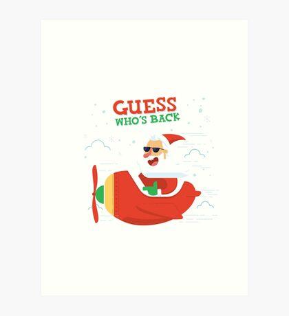 Merry Chrismas Oldman Ugly Sweater Xmas  Art Print