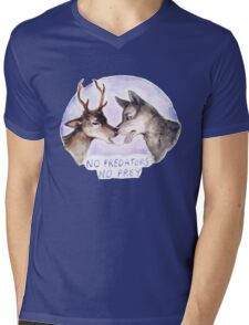 NO PREDATORS NO PREY Mens V-Neck T-Shirt