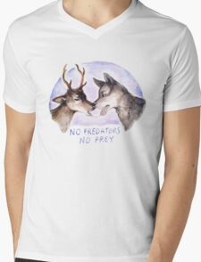 NO PREDATORS NO PREY Mens V-Neck T-Shirt