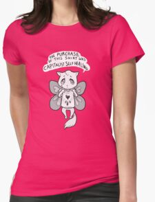 capitalist self healing cat Womens Fitted T-Shirt
