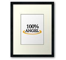 100% Angel Framed Print