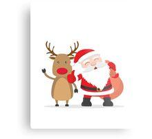 Merry Chrismas Oldman Reindeer Ugly Sweater Xmas  Metal Print