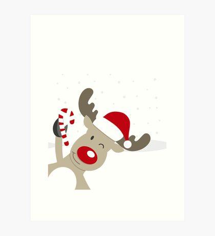 Merry Chrismas Reindeer Ugly Sweater Xmas  Art Print