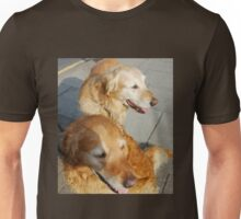Twice as nice - Two Friendly Golden Retrievers Unisex T-Shirt