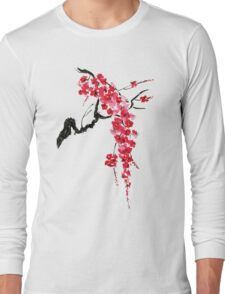 Pink flowers of sakura  Long Sleeve T-Shirt