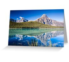 Mount Chephren and Waterfowl Lakes Greeting Card