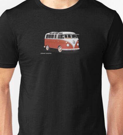 VW Bus T2 Samba Red White Hippie Van Unisex T-Shirt
