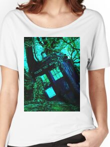 tardis-chested in the woods Women's Relaxed Fit T-Shirt