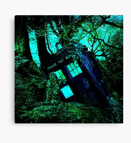 tardis-chested in the woods Canvas Print