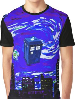 tardis between the sky and the city Graphic T-Shirt