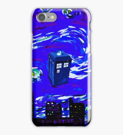 tardis between the sky and the city iPhone Case/Skin