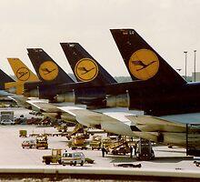 Lufthansa DC-10s at Frankfurt Main Airport by Jamie Baldwin