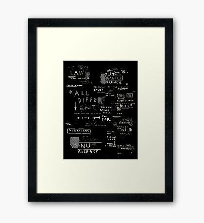 SUMMARY Framed Print