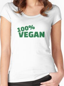100% Vegan Women's Fitted Scoop T-Shirt