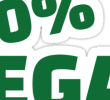 100% Vegan Sticker