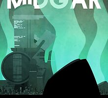 Midgar Travel Poster by Andrew Glazar