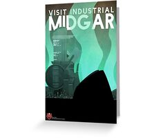 Midgar Travel Poster Greeting Card
