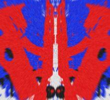Gun Art Blue/Red Sticker