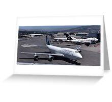 Air New Zealand 747 at San Francisco Greeting Card