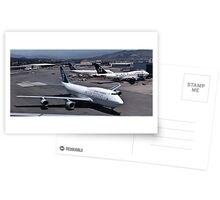 Air New Zealand 747 at San Francisco Postcards